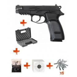 Pack BERSA THUNDER 9 PRO ASG + billes 0,25gr + cartouche de Co2 + mallette + cibles