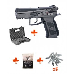 Pack CZ75 P-07 DUTY ASG + Billes 0,25gr + Cartouches de Co2 + Mallette
