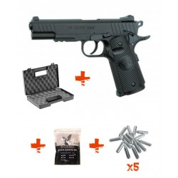 Pack Pistolet d'airsoft puissant - 2 joules - STI DUTY ONE ASG