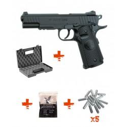 Pack STI DUTY ONE ASG + Mallette + Billes 0,25gr + Cartouches de Co2