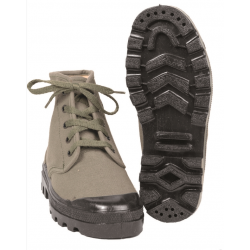 Jungle canvas low boots olive