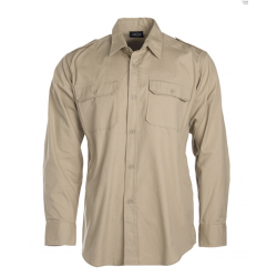 Shirt, khaki, 100 % cotton ripstop