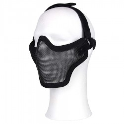 Mesh Mask Airsoft Stalker Style Shadow 2 elastic straps Black