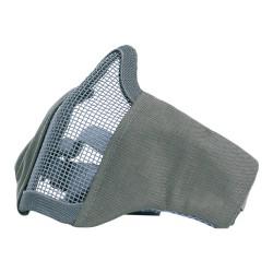 101 INC - Protection bas de visage masque grille et tissus - Gris