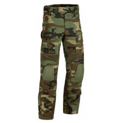 Pantalon d'airsoft coupe Predator avec inserts aux genoux - Woodland - Invader Gear