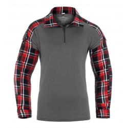Chemise de combat airsoft UBAC G2 Flannel Rouge Invader Gear