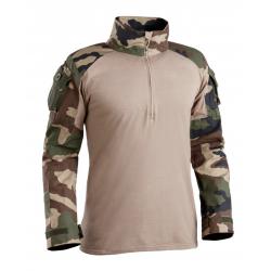Chemise de combat style Félin - UBAS - Centre Europe avec torse camouflage officel Terre - T.O.E
