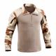 Chemise de combat coupe Félin - UBAS - Daguet Désert avec torse camouflage officel Terre - T.O.E