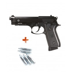 PACK Taurus PT92 GBB - métal - Semi et Full Auto + 5 capsules de CO2