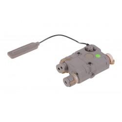 FMA - Boitier PEQ lampe/laser VERT - TAN