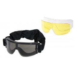 DELTA TACTICS - Masque X800 avec 2 verres - NOIR