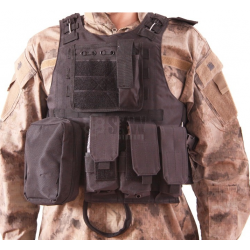 DELTA TACTICS - Gilet Plate Carrier tactique V07 - NOIR