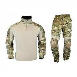 J-S TACTICAL - Tenue complète avec protections genoux/Coudes - MULTICAM