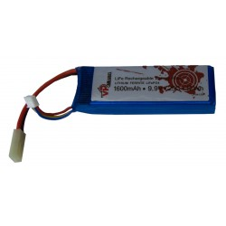 Batterie LiFePO4 9,9 V 1600 mAh 25C format mini Tamiya - VP
