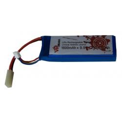 Batterie LiFePO4 9,9 V 1600 mAh 25C format mini Tamiya