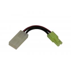 SWISS ARMS - Adaptateur batterie (mini tamiya male/tamiya large femelle)