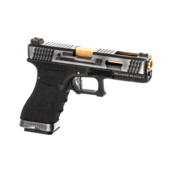 WE - S17 G-FORCE T3 GBB Gaz - ARGENT/OR/NOIR