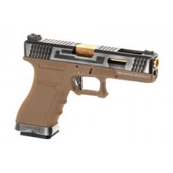 WE - S17 G-FORCE T4 GBB Gaz - ARGENT/OR/TAN