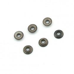 Paliers (bushing) acier à reserve d´huile 6 mm - jeu de 6