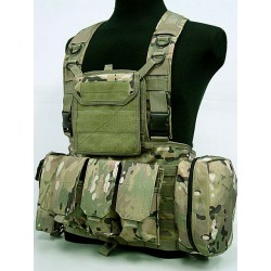 Chest Rig assault suspenders MOLLE with pouches Multi Camo