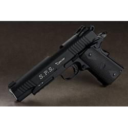 Colt 1911 Rail Gun CO2 bicolore noir 6mm culasse mobile