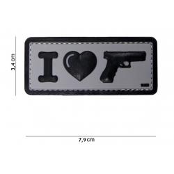 101 INC - Patch 3D PVC - I LOVE MY SIDEARM - NOIR