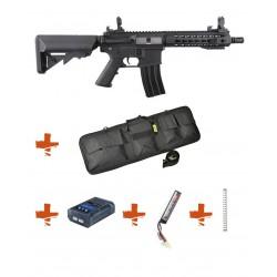 SPECNA ARMS - Pack M4 RRA SA-C08 CORE noir + Batterie + Chargeur de batterie + Ressort M90 + Housse