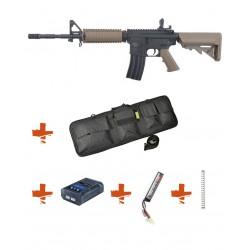 SPECNA ARMS - Pack M4 RRA SA-C03 CORE tan + Batterie + Chargeur de batterie + Ressort M90 + Housse