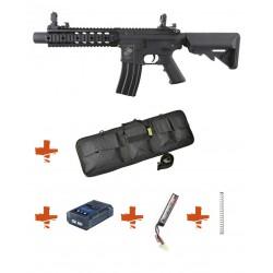 SPECNA ARMS - Pack M4 RRA SA-C05 CORE noir + Batterie + Chargeur de batterie + Ressort M90 + Housse