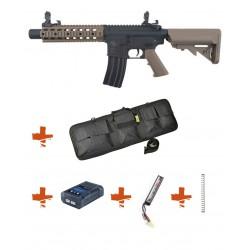 SPECNA ARMS - Pack M4 RRA SA-C05 CORE tan + Batterie + Chargeur de batterie + Ressort M90 + Housse