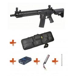 SPECNA ARMS - Pack M4 SA-C06 CORE tan + Batterie + Chargeur de batterie + Ressort M90 + Housse