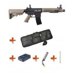 SPECNA ARMS - Pack M4 RRA SA-C07 CORE tan + Batterie + Chargeur de batterie + Ressort M90 + Housse