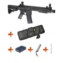 SPECNA ARMS - Pack M4 RRA SA-C07 CORE noir + Batterie + Chargeur de batterie + Ressort M90 + Housse
