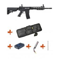 SPECNA ARMS - Pack M4 SA-C09 CORE noir + Batterie + Chargeur de batterie + Ressort M90 + Housse