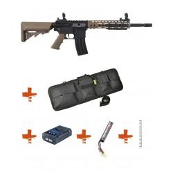 SPECNA ARMS - Pack M4 SA-C09 CORE tan + Batterie + Chargeur de batterie + Ressort M90 + Housse