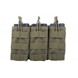 GFC - Triple Poches pour chargeur M4/AK/G36 - NOIR