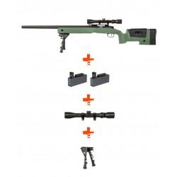 Pack Réplique Airsoft Sniper SA-S03 CORE High Velocity - OD