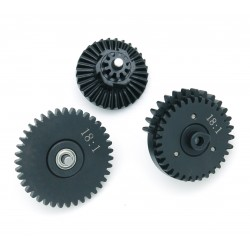 Engrenages acier CNC développement standard 18:1 sur roulements à billes