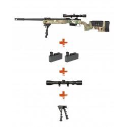 Pack Réplique Airsoft Sniper SA-S03 CORE High Velocity - MULTICAM