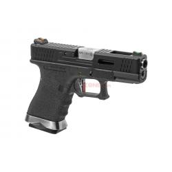 WE - Pistolet Airsoft S19 G-FORCE T5 GBB Gaz - Noir/Argent/Noir