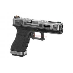 WE - Pistolet Airsoft S18 G-FORCE T7 GBB Gaz - ARGENT/ARGENT/NOIR