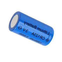 Pile (X1) rechargeable 2000 mAh CR123A 3,7V