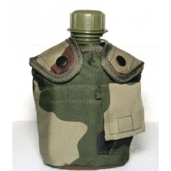 Water bottle with cup, pouch CE camo