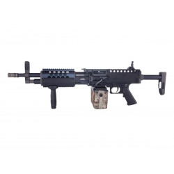 LMG longue Machine Gun Full Métal GEN2 AEG 1.4J - GOLDEN EAGLE