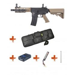 SPECNA ARMS - Pack M4 SA-C12 CORE tan + Batterie + Chargeur de batterie + Ressort M90 + Housse