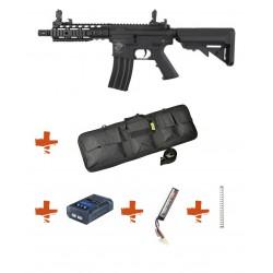 SPECNA ARMS - Pack M4 SA-C12 CORE Noir + Batterie + Chargeur de batterie + Ressort M90 + Housse