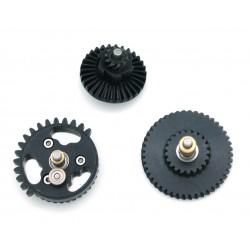 Engrenages acier CNC hélicoïdaux fort couple 100:200 sur roulements à billes