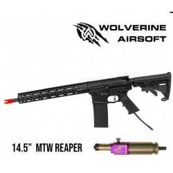 """WOLVERINE AIRSOFT - M4 MTW with REAPER Engine and Standard Stock 13"""""""