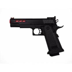 Pistolet Airsoft Hi-capa GBB Gaz - Rouge