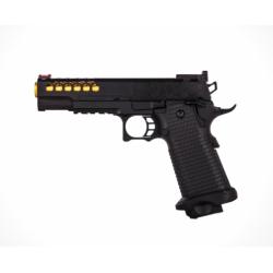 GOLDEN EAGLE - Pistolet Airsoft Hi-capa HEXA GBB Gaz - Noir